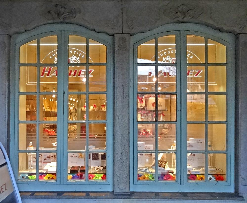 Hachez-Laden am Marktplatz - hmmmm, lecker ...