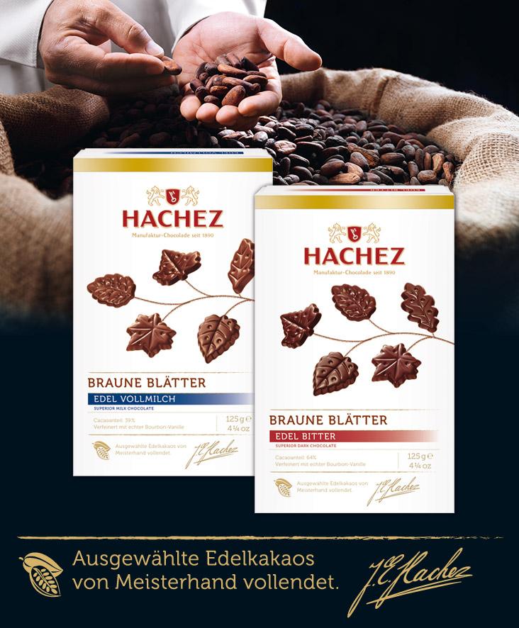 Braune Blätter - eine besondere Spezialität, Foto: Bremer HACHEZ Chocolade GmbH & Co. KG