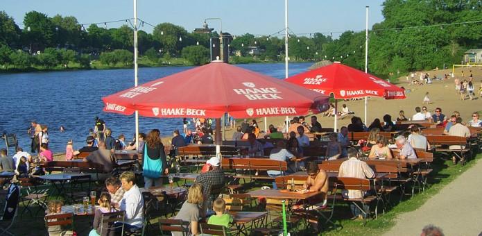 Biergärten an der Weser