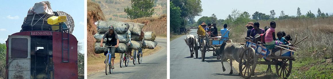 Auf der Straße in Madagaskar