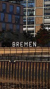 Bremen-Gruß mit Effekt