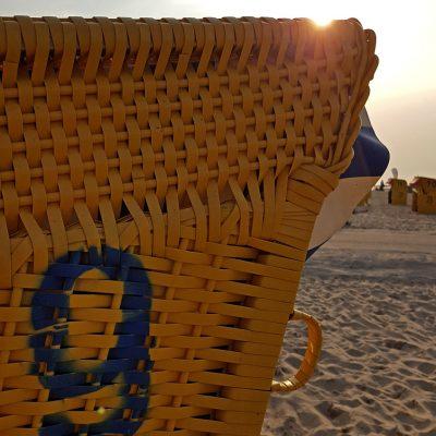 Strandkörbe gehören zu Cuxhaven