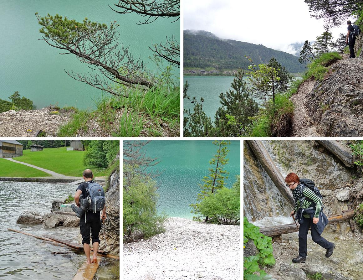 Der schmale Steig am See