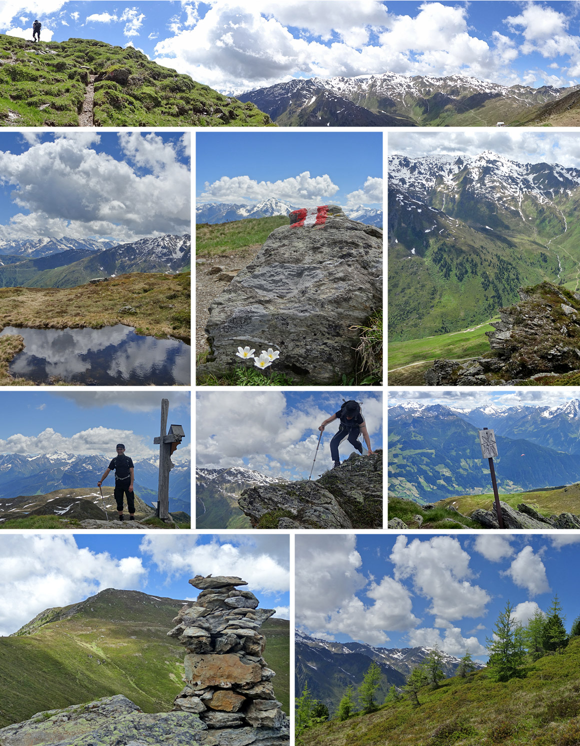 Auf dem Weg nach Mayrhofen über Doppelgipfel und Kämme
