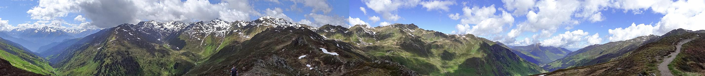 Alpen-Panorama - rund um den Gipfel