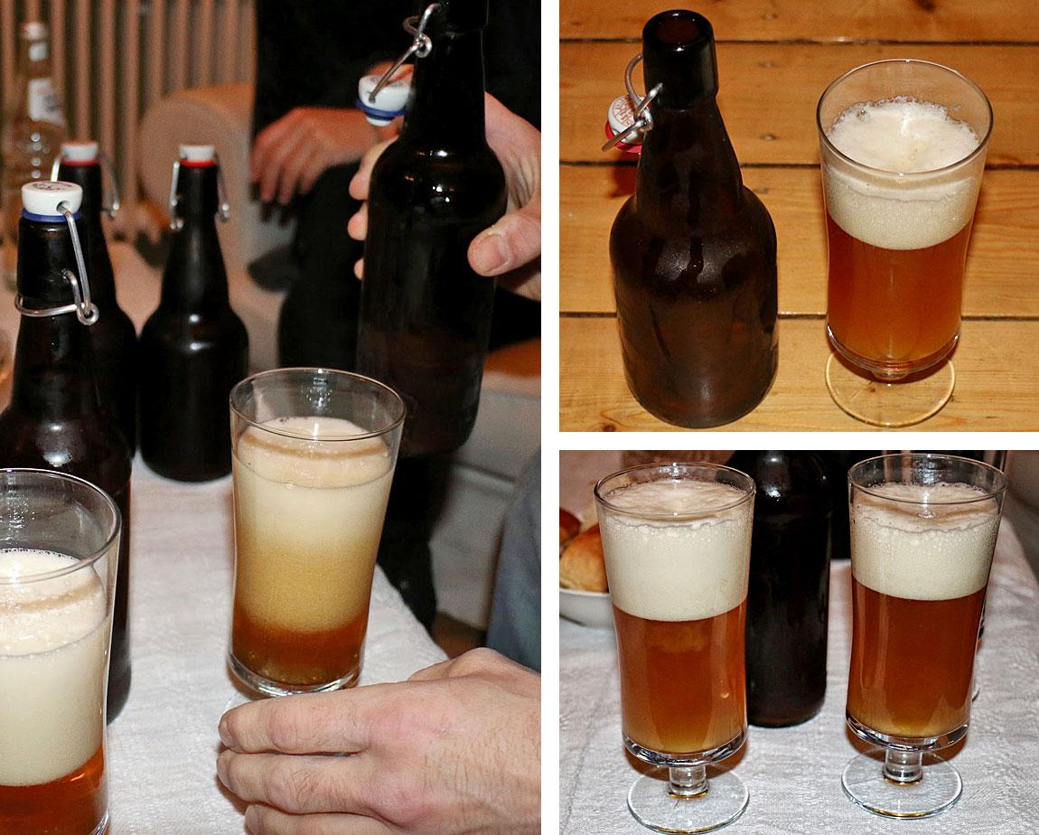 Bierprobe - nach etwa 6 Wochen ist es perfekt
