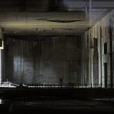 Halle, bewohnt von Fledermäusen
