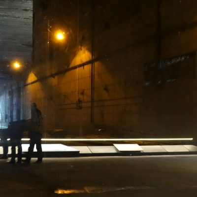Blick in den abgesperrten Bereich des Bunkers