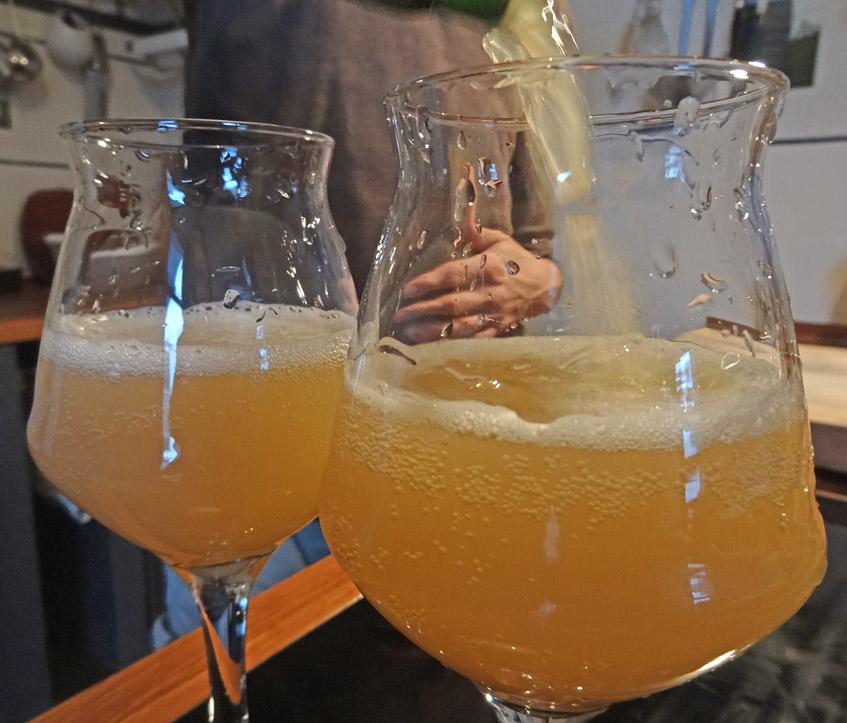 Der Cider kann gekostet werden
