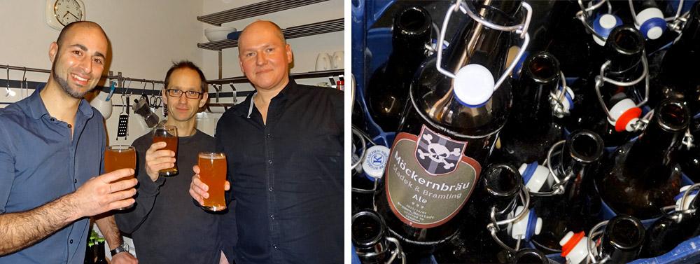 Die Verkostungs-Party - stolze Männer und leere Flaschen