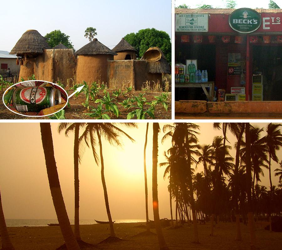Beck's in Benin: Dose in einer Tata, Werbung in Bohicon und Strand in Ouidah als Ort zum Genießen