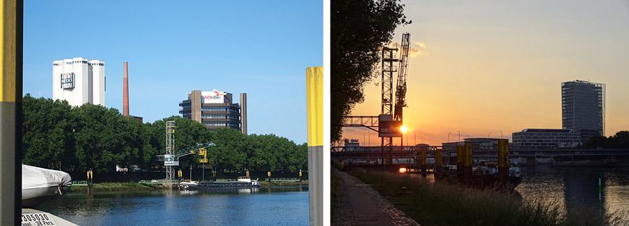 Das Werk an der Weser, Foto links: Anheuser-Busch InBev