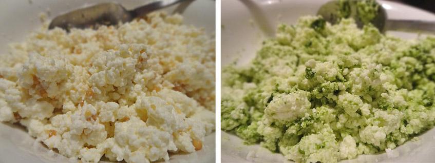 Käse mit Senf und Bärlauch
