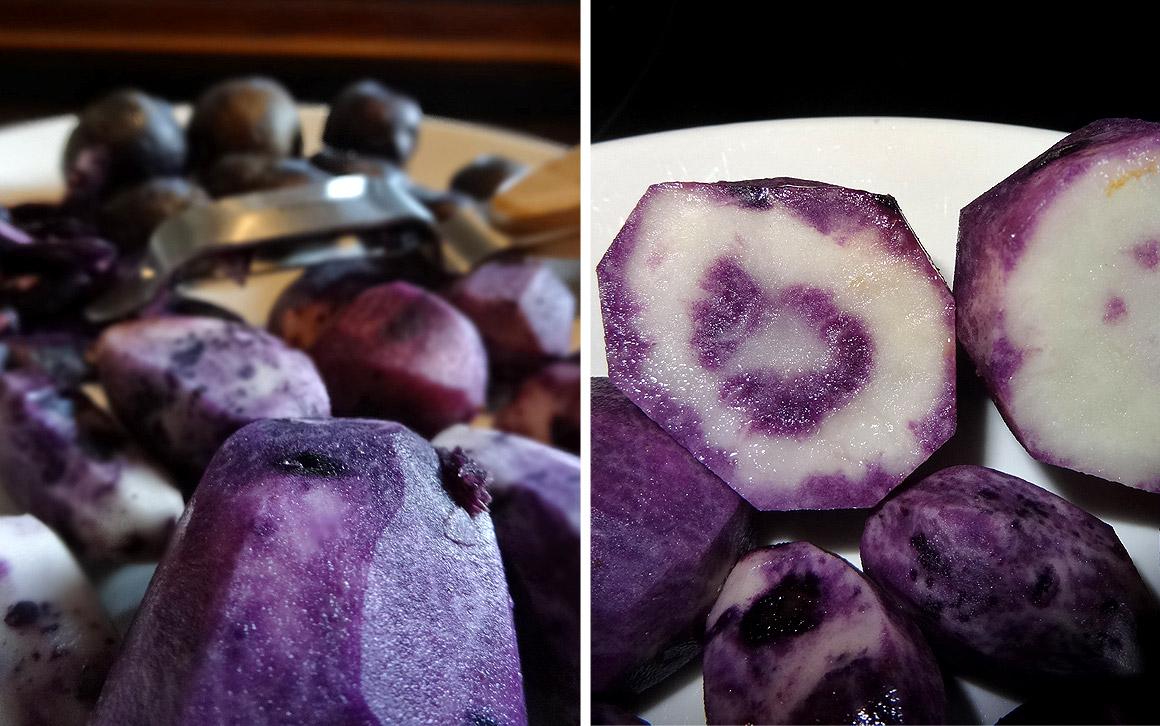 """Kartoffel """"Vitelotte noire"""""""