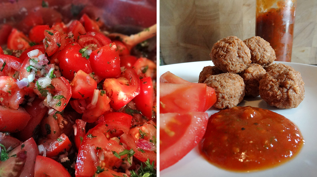Kräuter-Ketchup in Saucen-Konsistenz