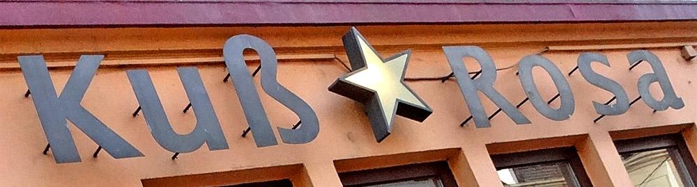 Das Kuß Rosa in der Bremer Neustadt