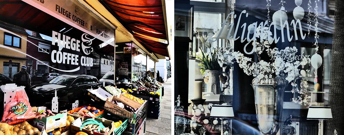 Läden in der Kornstraße