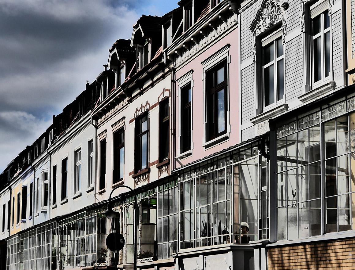 Typische Veranden - die Waterloostraße