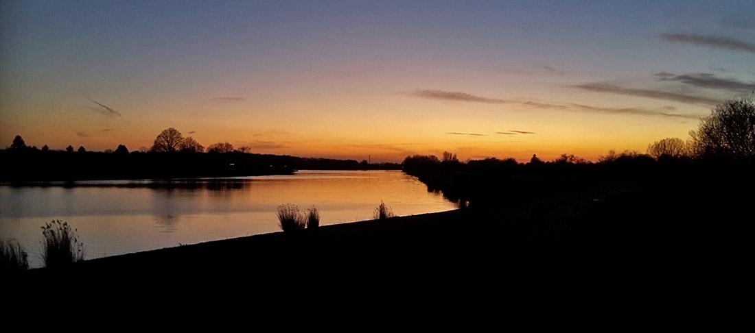 Sonnenuntergang am Werdersee