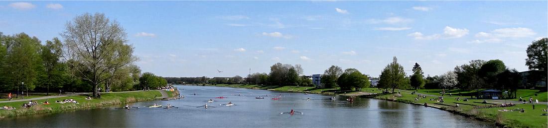 Ruderveranstaltung am Werdersee