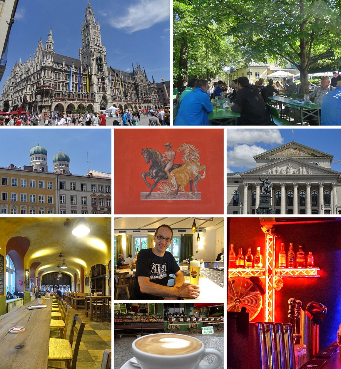 München - historische Bauten und BIer