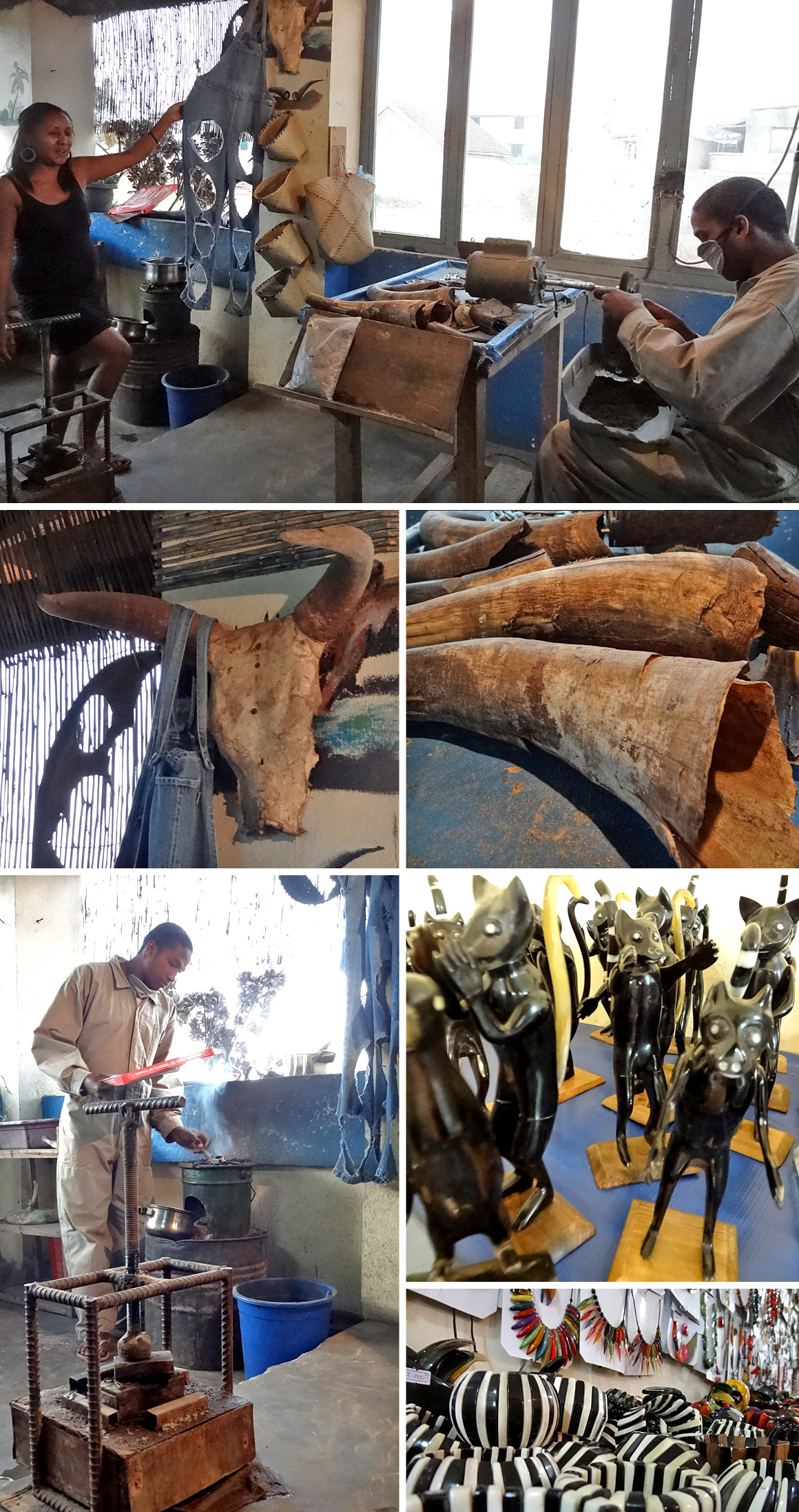 Zebuhorn-Manufaktur in Antsirabe