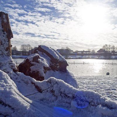 Winter am Werdersee-Strand