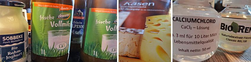 Zutaten für den Käse