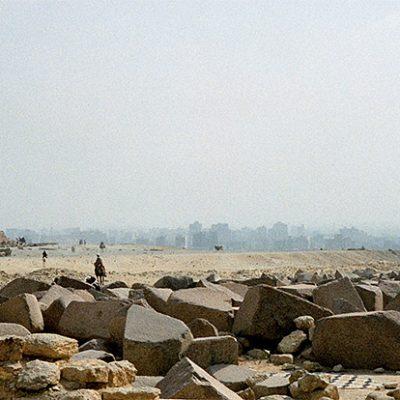 Gizeh - Blick nach Kairo