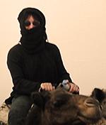 SchädelMädel auf Kamel