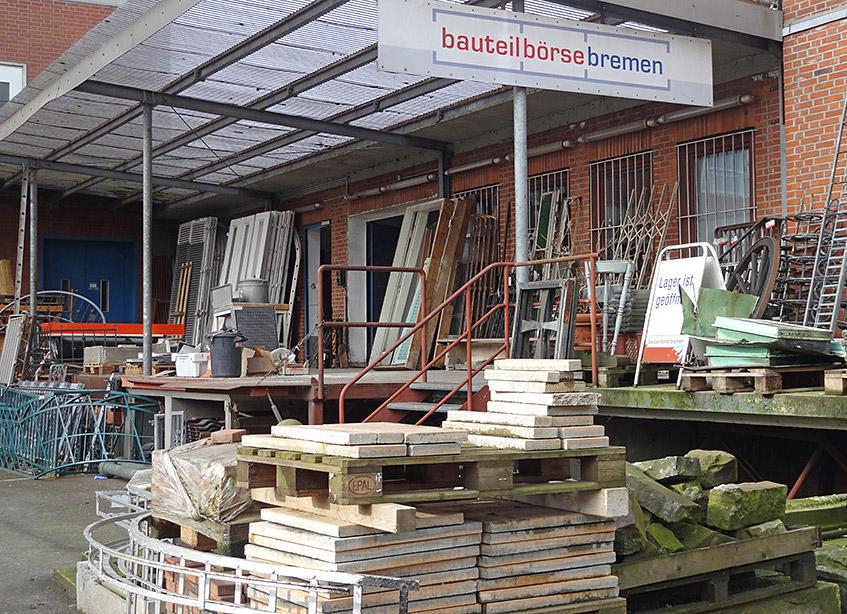 Die Bauteilebörse Bremen in der Getreidestraße