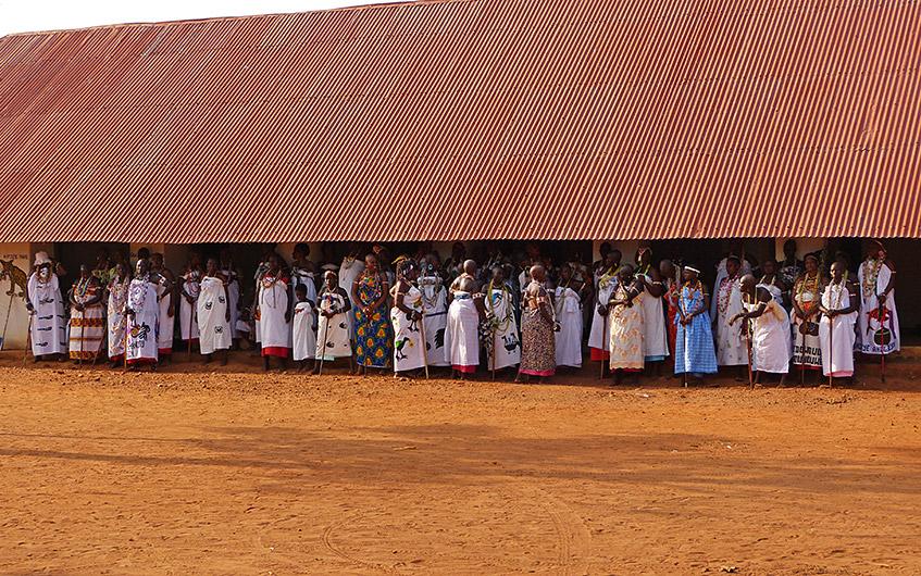 Seltene Zeremonie in Abomey