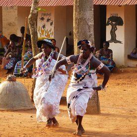 Zeremonie in Abomey Benin