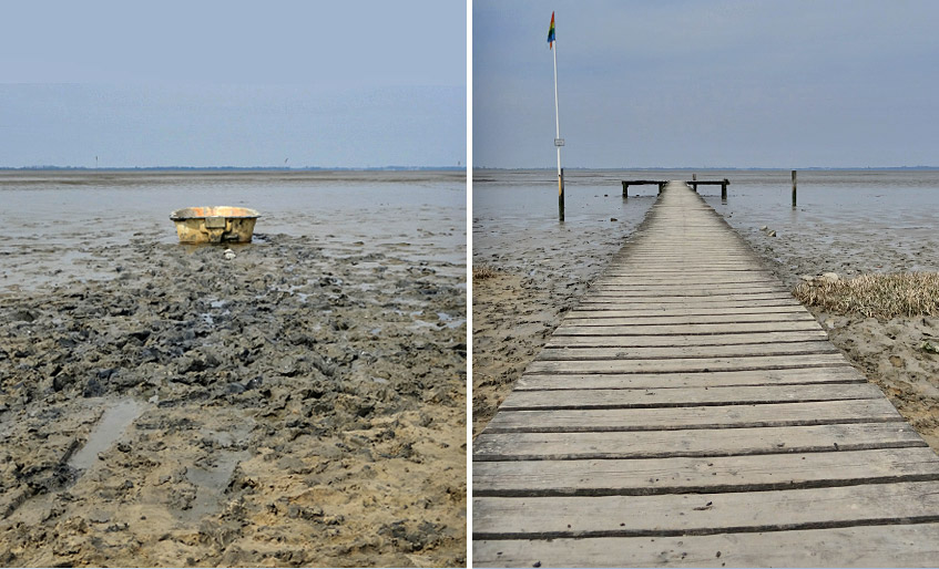 Schlick statt Meer - am Strand von Dangast