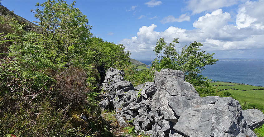 Wanderpfad zwischen Hang und Steinen
