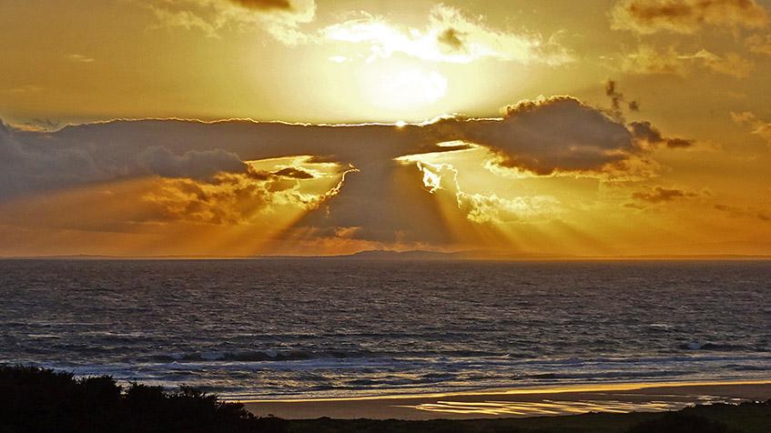 Sonnenuntergang am Strand von Fanore