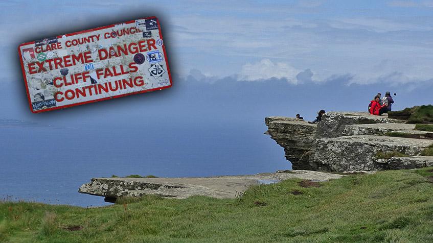 Waghalsige Touristen - extreme danger!