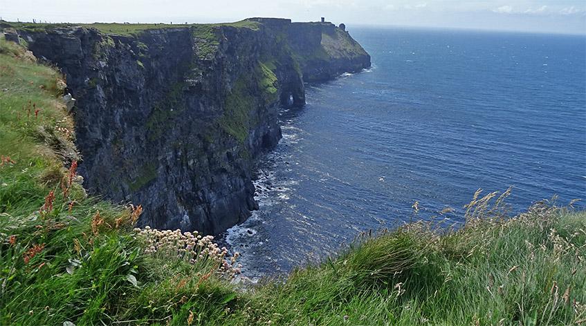 Das Ende der Etappe an den Cliffs ist in Sicht