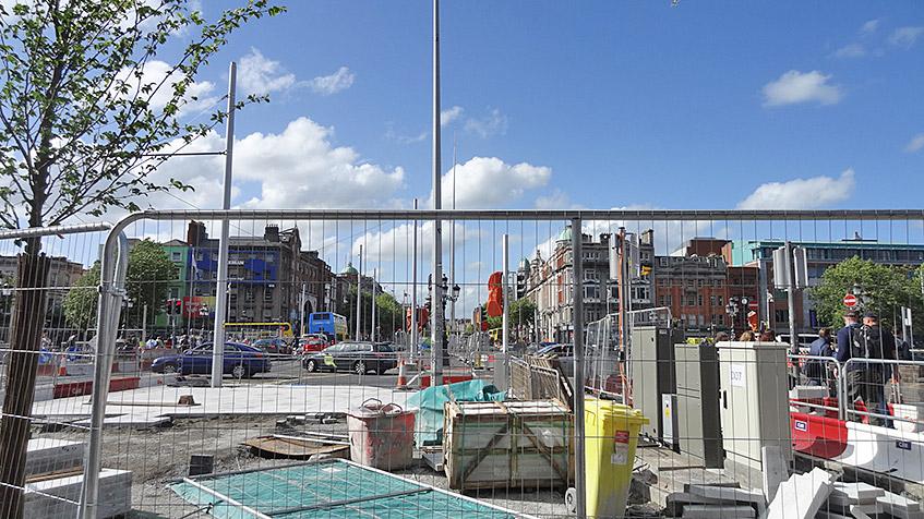 Baustellen-Alarm in Dublin