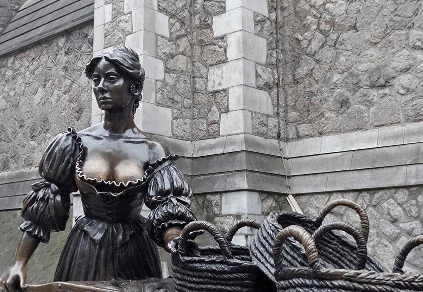 Statue von Molly Malone