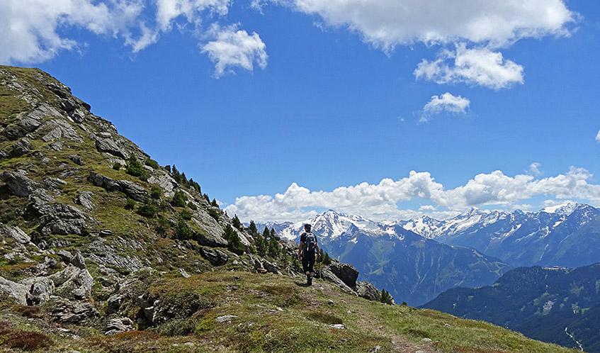Der Mann und die Berge