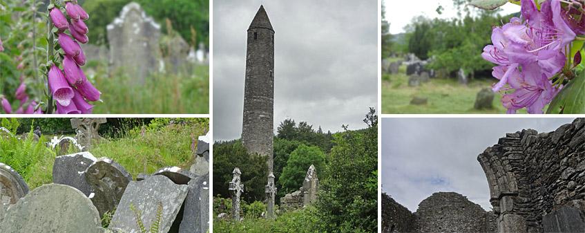 Glendalough - von Blumen und Ruinen