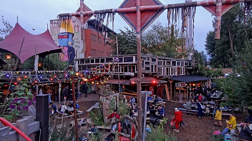Holzmarkt in der Dämmerung