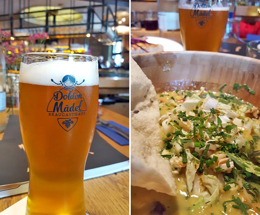 Bier und veganes Essen im DoldenMädel