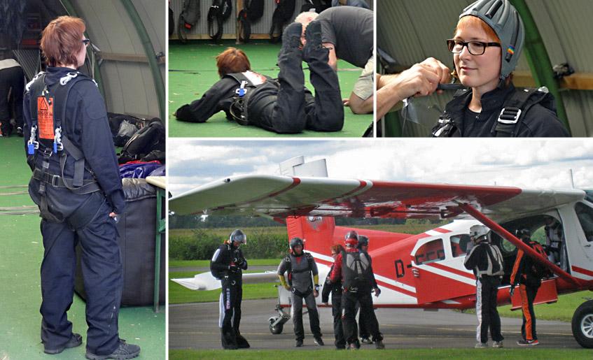 Vorbereitung auf das große Abenteuer - den ersten Fallschirmsprung