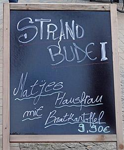 Matjes, Hausfrau und Bratkartoffel für 9,90 Euro, toll!