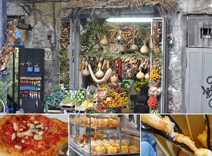 Pizza, Süßzgebäck, Frittiertes und Allerlei
