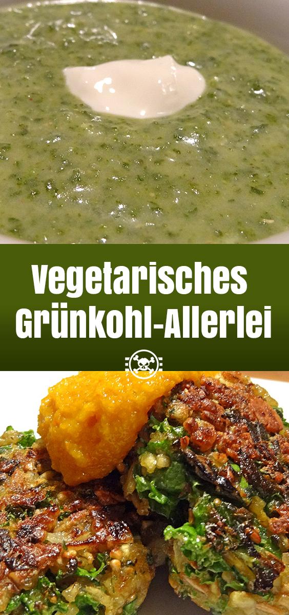 Vegetarisches Grünkohl-Allerlei - Pinterest-Vorlage