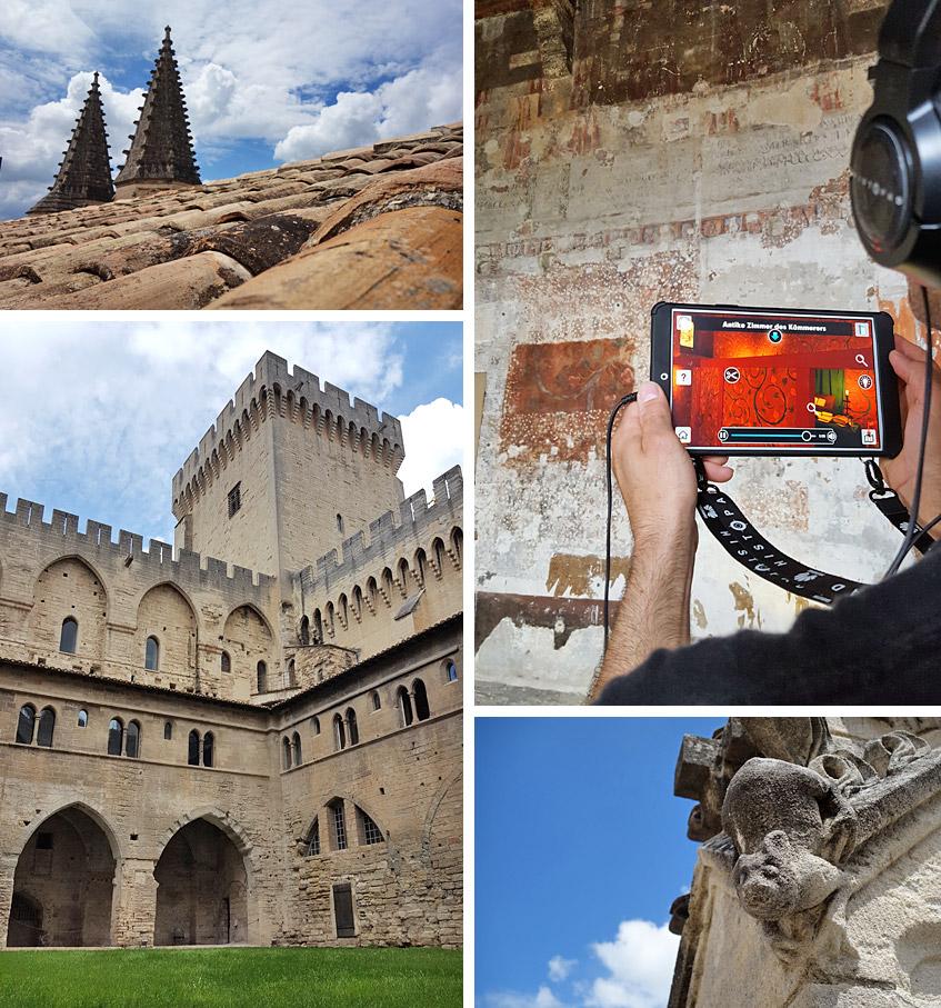 Der Papstpalast von Avignon atmet Geschichte