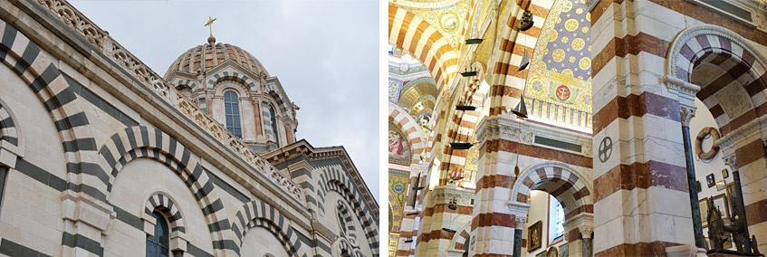 Die Kathedrale hoch über Marseille